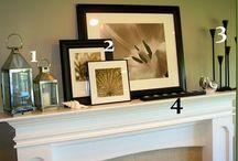 Fireplace & mantel deco