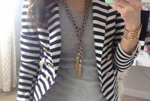 Blue&white stripped blazer