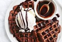pancakes + waffles / Pass the maple syrup, please.