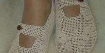 Horgolt cipő vagy  Kézzel készített