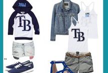 Prettiest Fans in Baseball / Who said baseball is for boys? Your one stop shop for Tampa Bay Rays chic apparel, accessories, hair and nails