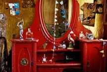 Dressing Tables / I think every girl loves the thought of sitting down in front of a dressing table. / by Bobbie Hopper