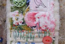 Crazy quilting and embellishing