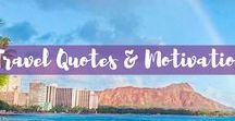 Travel Quotes & Motivation / Who doesn't love a great travel quote? This board is filled with all my favorite inspirational travel quotes to inspire you and motivate you to get out into the world.