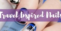 Travel Inspired Nails / Who else loves a cute nail design or nail art? Here's a collection of the best travel inspired nail designs.
