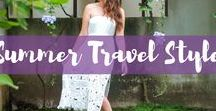 Summer Travel Style / Traveling during the Summer season? Here are the best Summer travel style outfit inspirations.