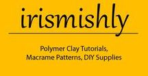 irismishly / Polymer Clay Tutorials, Macrame Patterns, DIY Supplies #polymerclay #phimo #diy #Macrame
