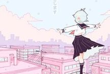 S ~ Anime characters pastel