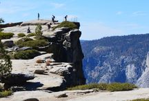Taft Point Trail, Yosemite National Park / Standing at 3500 feet the Taft Point Trail in Yosemite National Park is a 2.2 mile round trip. If you're not scared of heights this is definitely worth making a stop at!