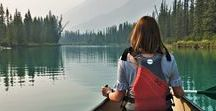 Canoeing The Bow River In Banff