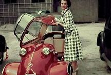 Vintage cars and fashion