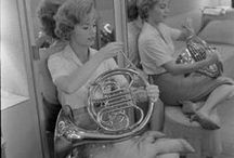 Vintage women and horns