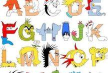 ABC...as easy as 1, 2, 3 / alphabet art