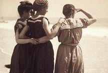 Vintage fashion on the sand