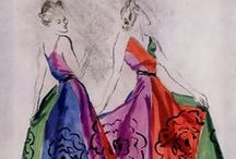 """Carl """"Eric"""" Erickson / Vogue's 1958 obituary said it best: """"To the Paris couture an Eric drawing was the most desired of representations for their designs; to the young, beginning fashion artists, Eric was a minor god, the creator of a fostering climate for fashion art."""""""