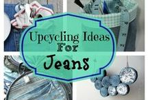 Blue Jean Dreams / Upcycled/recycled blue jeans, blue jean crafts