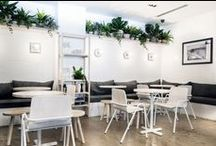 Stirling Patisserie / Dowel Jones worked with Stirling Patisserie in Adelaide Hills to deliver custom white stained Full Hurdle chairs.