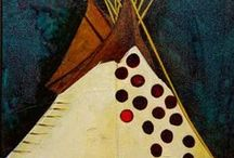 """Apsaalooke Lodges - Kevin Red Star / """"We would always hear stories about the travels of our people. How far did they go? Did they make it to the Oregon coast? It's possible. I like to imagine a Crow TiPi on the shores of the Pacific Ocean.""""  - Kevin Red Star"""