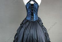 Victorian and medieval dresses