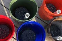 GroBucket / Self watering sub-irrigation container garden