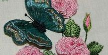 Вышивка Бабочки,птички и зверушки