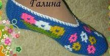 Вязание Обувь
