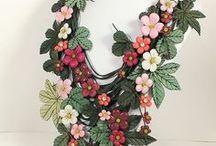 Цветы Фоамиран Текстиль Кожа