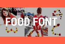 Food Font / Welcome to the *OFFICIAL* Food Font Project Alphabet Pinterest Page!   Food Font is an art project where people can make alphabets out of food, take pictures of each letter, and later use these and other food alphabets to create images and other creative projects. The project supports dialogue and builds community around food, health, and sustainability.  Why not play and write with your food? http://foodfont.com