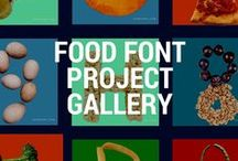 Food Font Project Gallery / Welcome to the *OFFICIAL* Food Font Project Gallery Pinterest Page! Food Font is an art project that is designed to support dialogue and build communities around food, health, and sustainability. Food Font allows you to contribute to and use a library of food alphabets.  Why not play and write with your food? http://foodfont.com