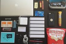 What's In Your Bag? / Whether or not you work out of a shared workspace, we bet you are probably always on the go. More and more, backpacks and messenger bags are becoming mobile offices, holding anything and everything you need to get through a day spent hustlin.