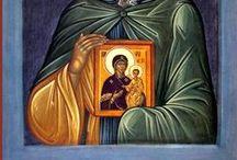 Icons in icons and painters / Ikonimaalarit ja ikonit ikoneissa, kopiot
