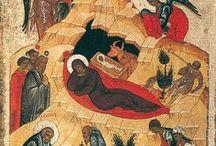 Icons Nativity / Christmas, Nativity, Adoration of Magi, Birth of John the Baptist