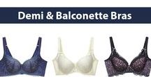 Demi & Balconette Bra | Satami Shaping Bra / These types of bras offers enhanced cleavage and offer less coverage of the breasts. These styles are best for  petite to average figure women. Satami have a range of functional shaping bras in a range of beautiful designs.