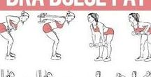 Slimming Exercise Ideas For Women / Some great slimming exercise ideas for women that we came across. Exercises to improve bra bulge issues, flabby arms, tummy, back, legs etc. Anything to help tone your body.