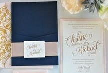 Oct 2016 Wedding / Navy, blush, champagne
