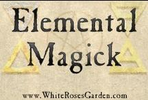 Elemental Magick / Spells, rituals, visualizations, correspondence tables, herbs, incense, recipes, and everything else related to the four elements (earth, air, fire, water) for pagans, wiccans & other magickal traditions.