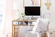 Home Office / home office, office decor, work space, chic office, dream office