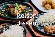 Reisen: Essen / Hier zeigen wir euch, wo und was ihr auf euren Reisen am besten essen könnt und wie ihr euch den Urlaub auch in eure eigene Küche holen könnt.