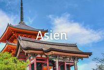 Reisen in Asien / Thailand, Vietnam, Indonesien, Kambodscha, China, Japan: Asien hat so viel zu bieten und in den meisten Ländern ist  das Reisen sehr günstig. Hier haben wir viele tolle Inspirationen für euren nächsten Asien Urlaub.