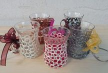 Hand Painted Glassware / Mugs, wedding flutes, glasses, jars, bowls