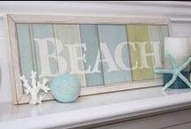 beach signs, shells and coastal fun