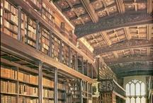 Libraries, books, shelves...
