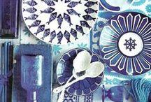 indigo and blues