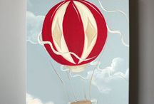{YOLLIE} - Up Up and Away! / Vintage Hot Air Balloon Babyshower