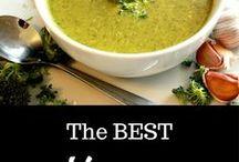 Vegan Soup + Vegetarian Soup / healthy recipes, easy vegan recipes, detox soup, lentils, coconut milk, dairy-free, vegetarian,  vegan, large batch, freezer-friendly, potato, broccoli, cauliflower, veggies, vegetables, herbs, spicy, chowder, cream