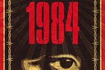 """George Orwell: """"1984""""  / El 8 de junio de 1949 se publicaba """"1984"""", la novela de ficción distópica por excelencia. Este tablón recoge algunas de las portadas más interesantes de sus numerosas ediciones en diferentes idiomas."""