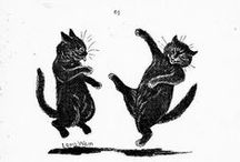 Cats in art - black and white /