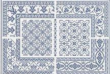 AZUL - BLUE - Ponto Cruz