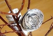 Rock, PAPER, Scissors, CRAFT! / Pretty, Easy Paper Up-cycling Projects (for Non-Crafty People, Too!)