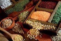 Recetas - Legumbres, Granos / Diferentes preparaciones donde los granos - Maíz, Garbanzos, Lentejas, etc. - son protagonistas